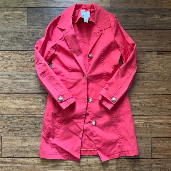 Old Navy Jackets & Blazers - Bright Pink Salmon Parka Coat Jacket